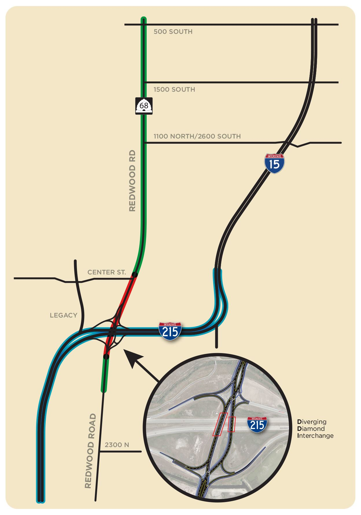 Redwood Road Interchange Map UDOT Early 18 project