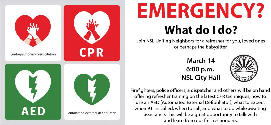 Uniting Neighbors Emergency Refresher March 14 2018 6 pm