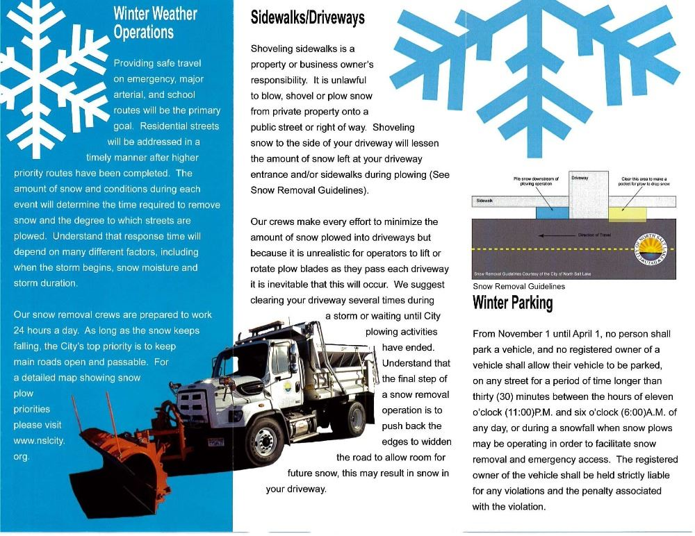 Snow Plow pamphlet 2016