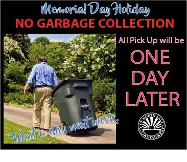 WM Holiday pick up wait a day guy rolling can Memorial Day 2018