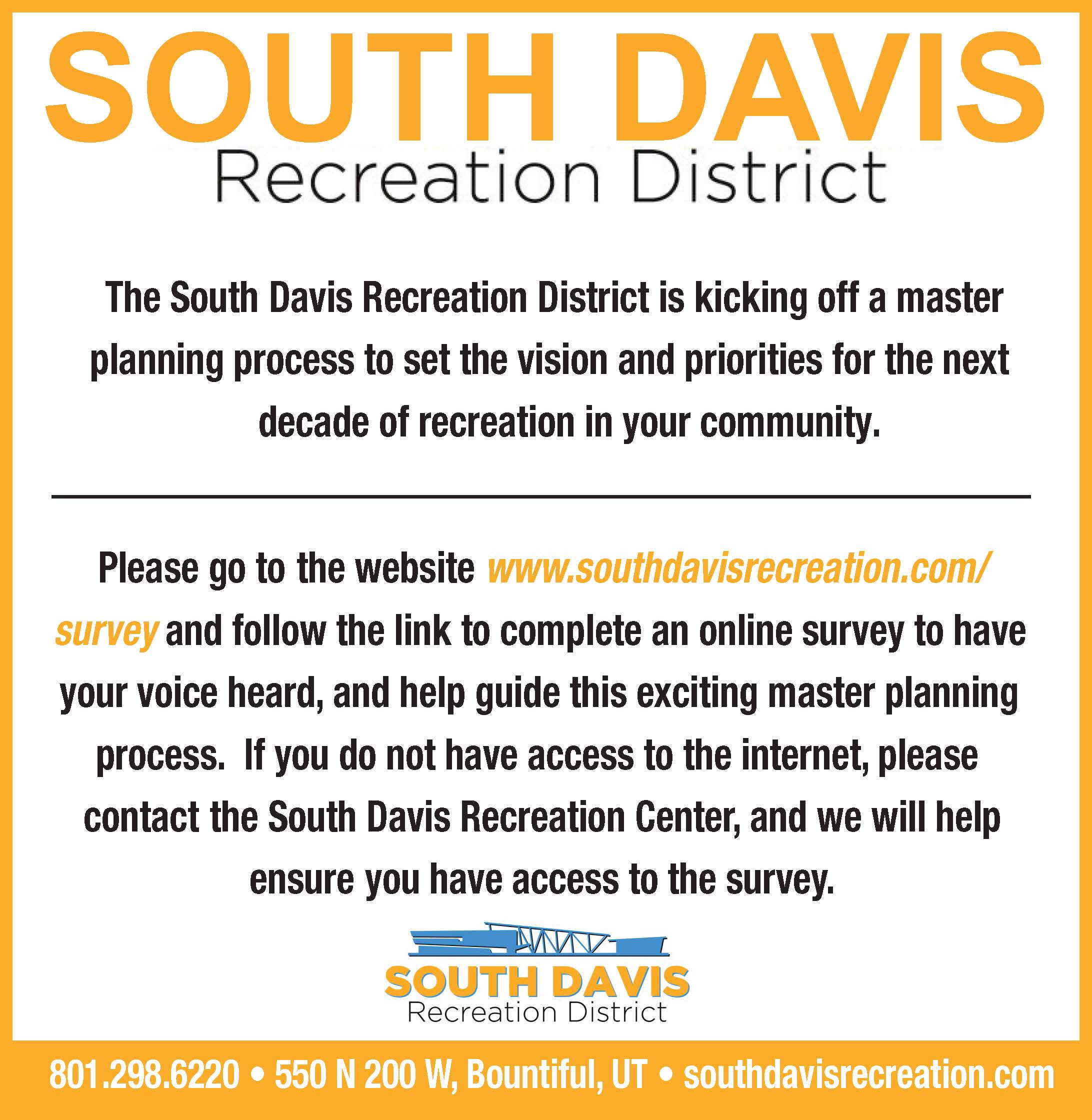South Davis Survey Website Post