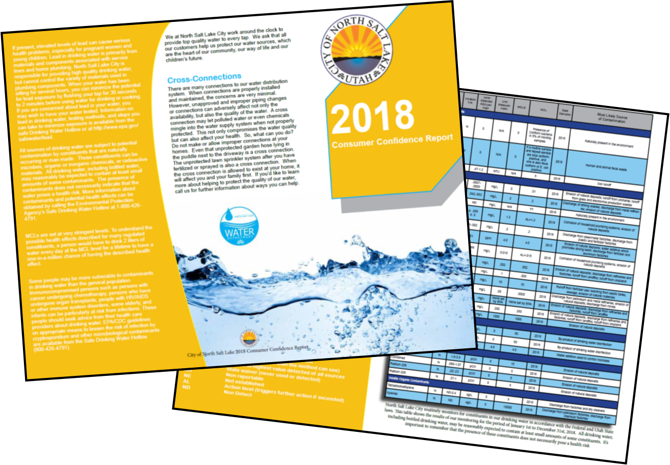 CCR 2018, Water Quality Report