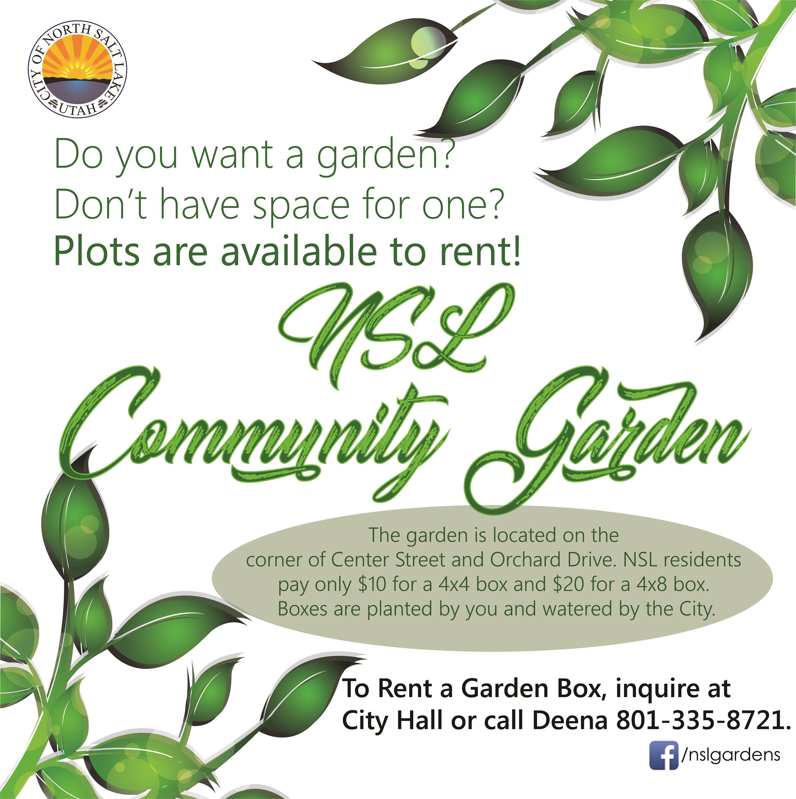 2019 Community Garden plots available Square Instagram