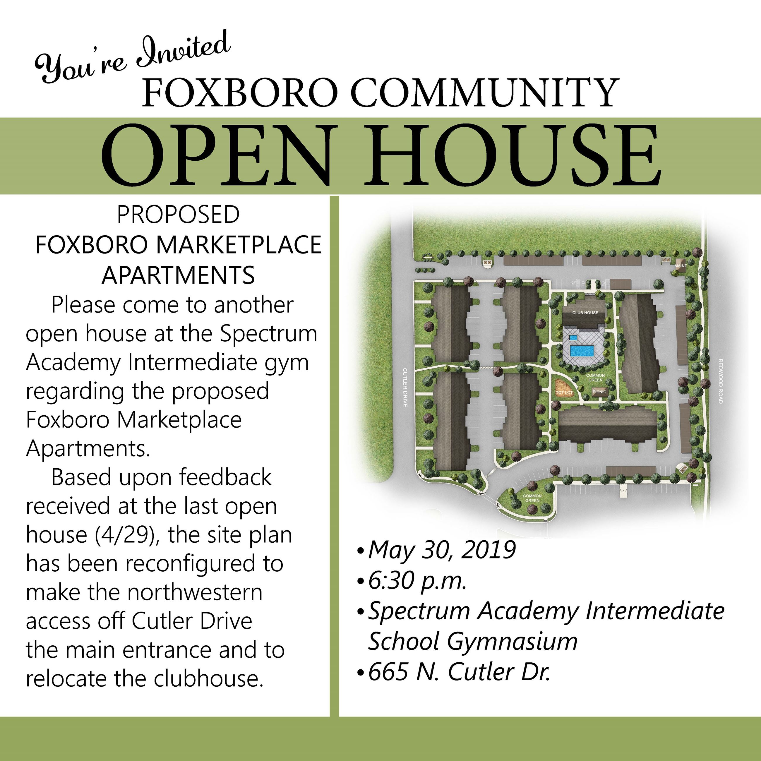 Chris Robinson Open House Foxboro Marketplace Development 5-30-19