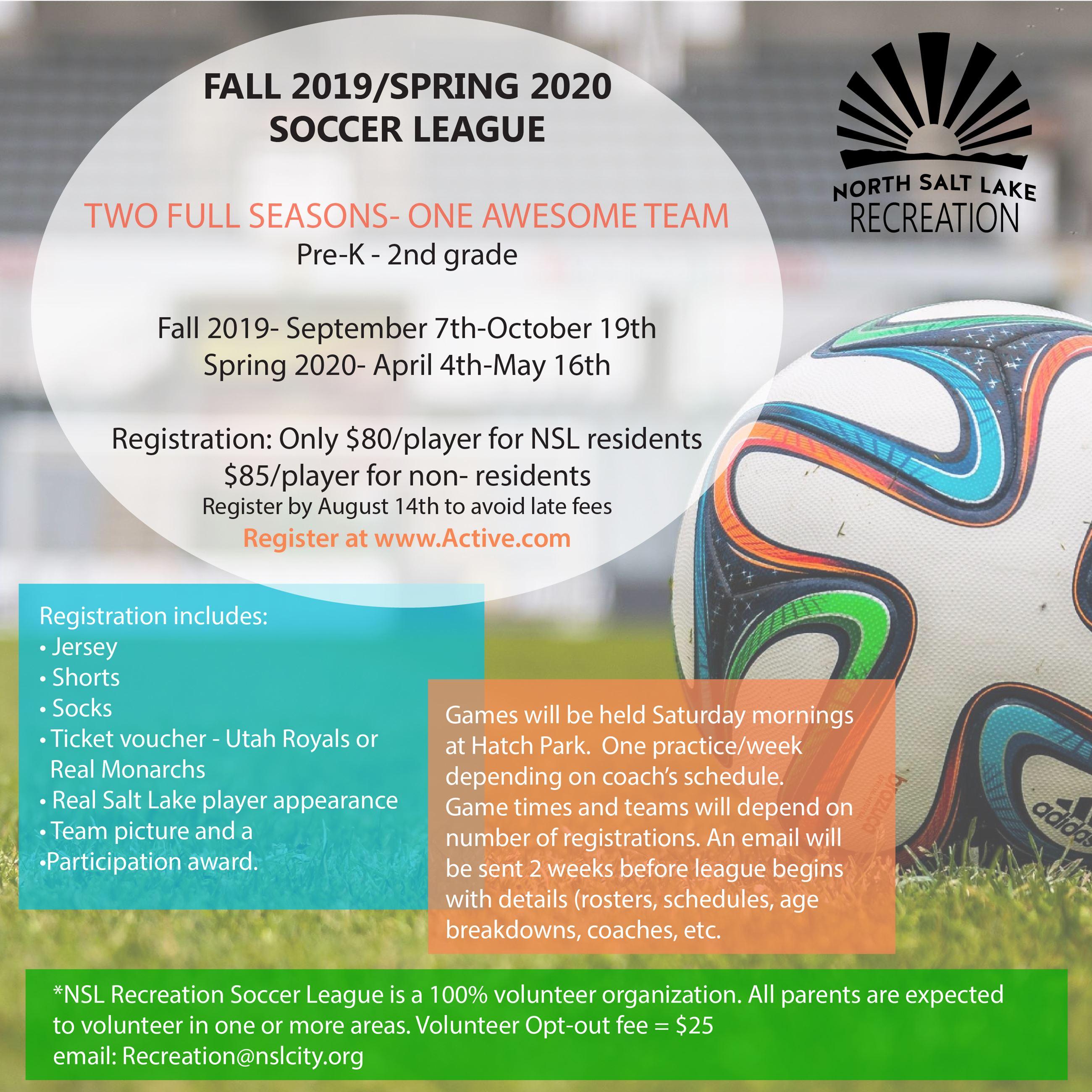 Ut Fall 2020 Schedule.North Salt Lake Ut Official Website