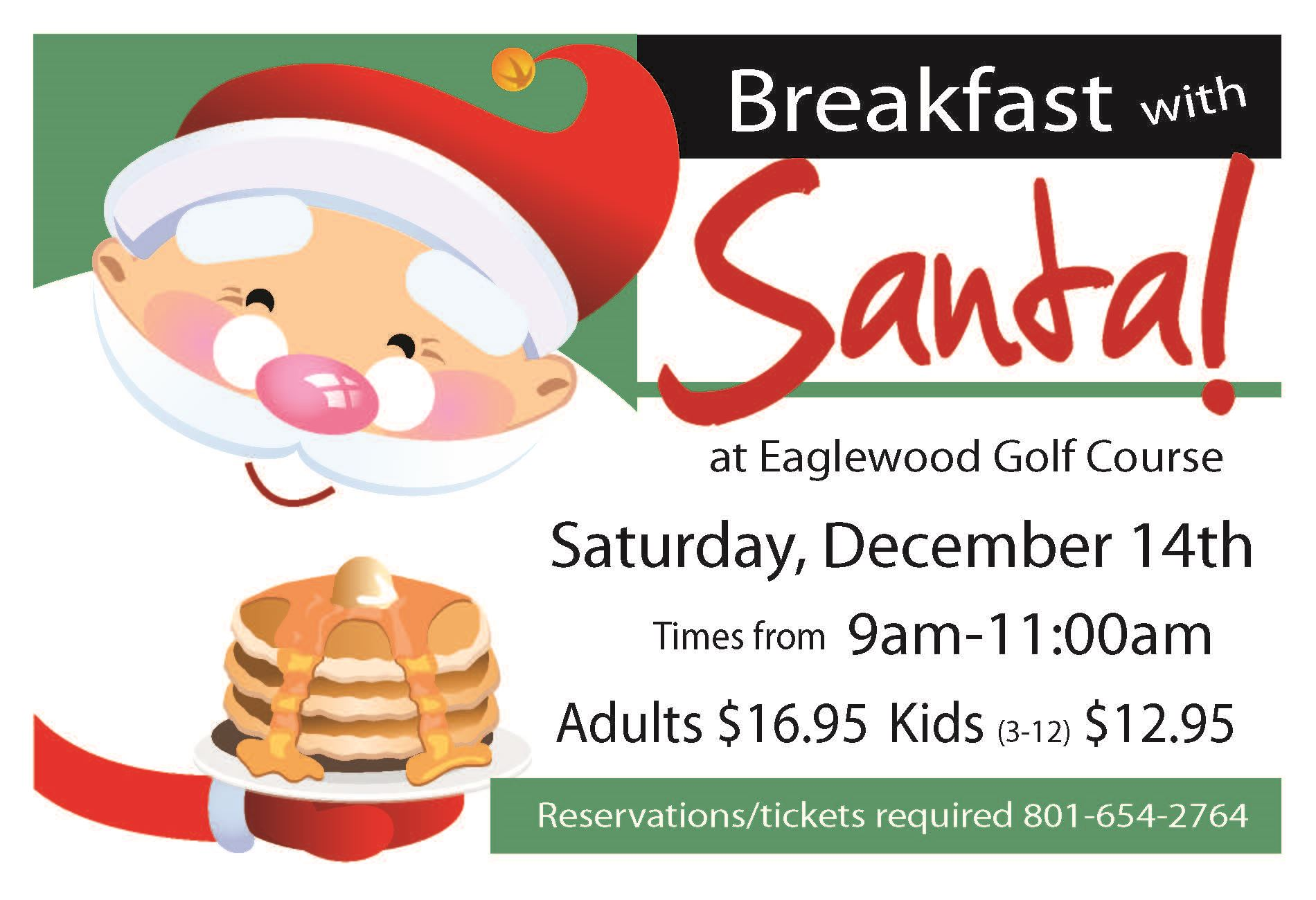 Eaglewood breakfast with santa flyer 2019