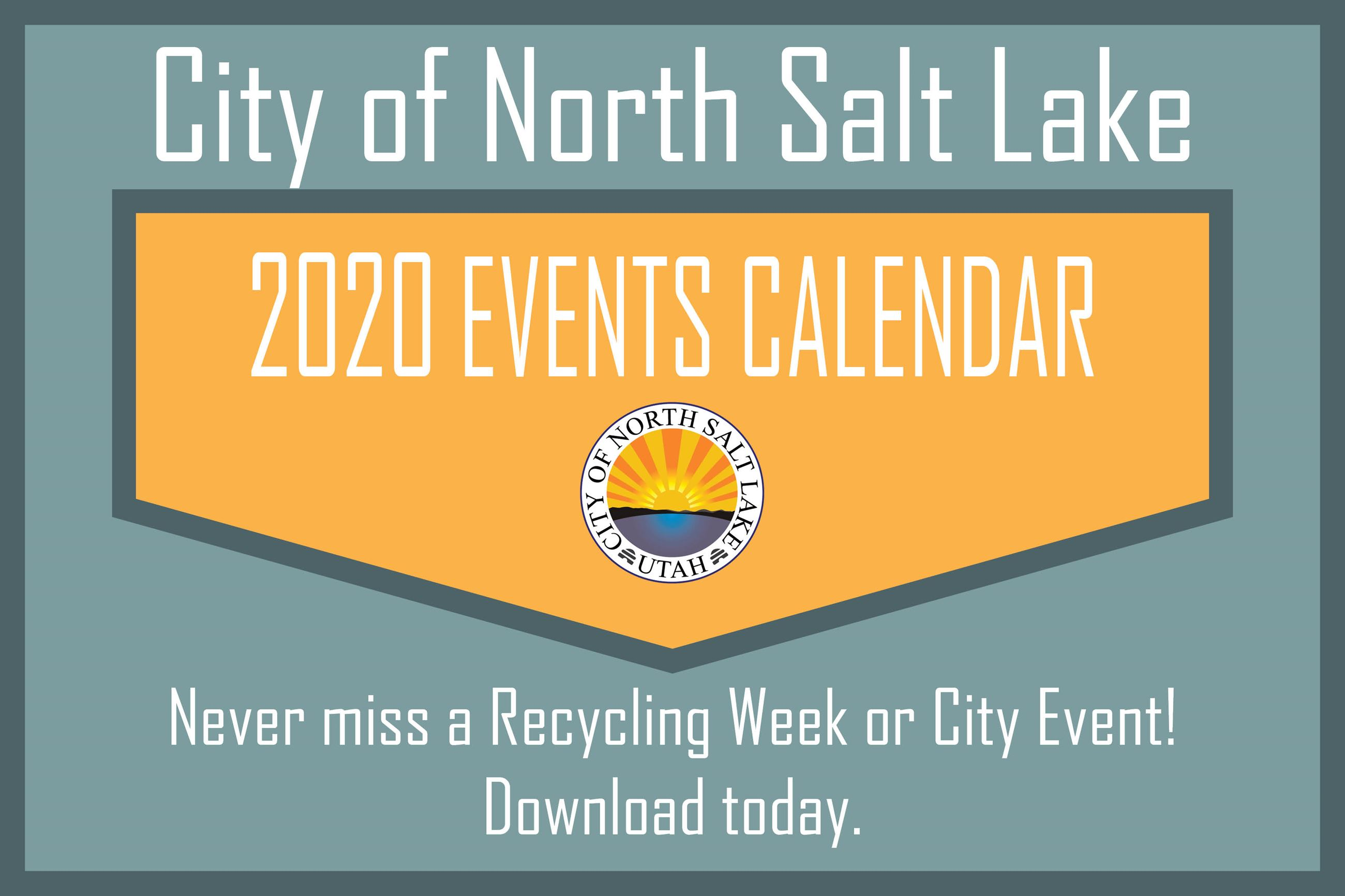 2020 Event Calendar News Flash Graphic