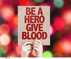 give blood be a hero