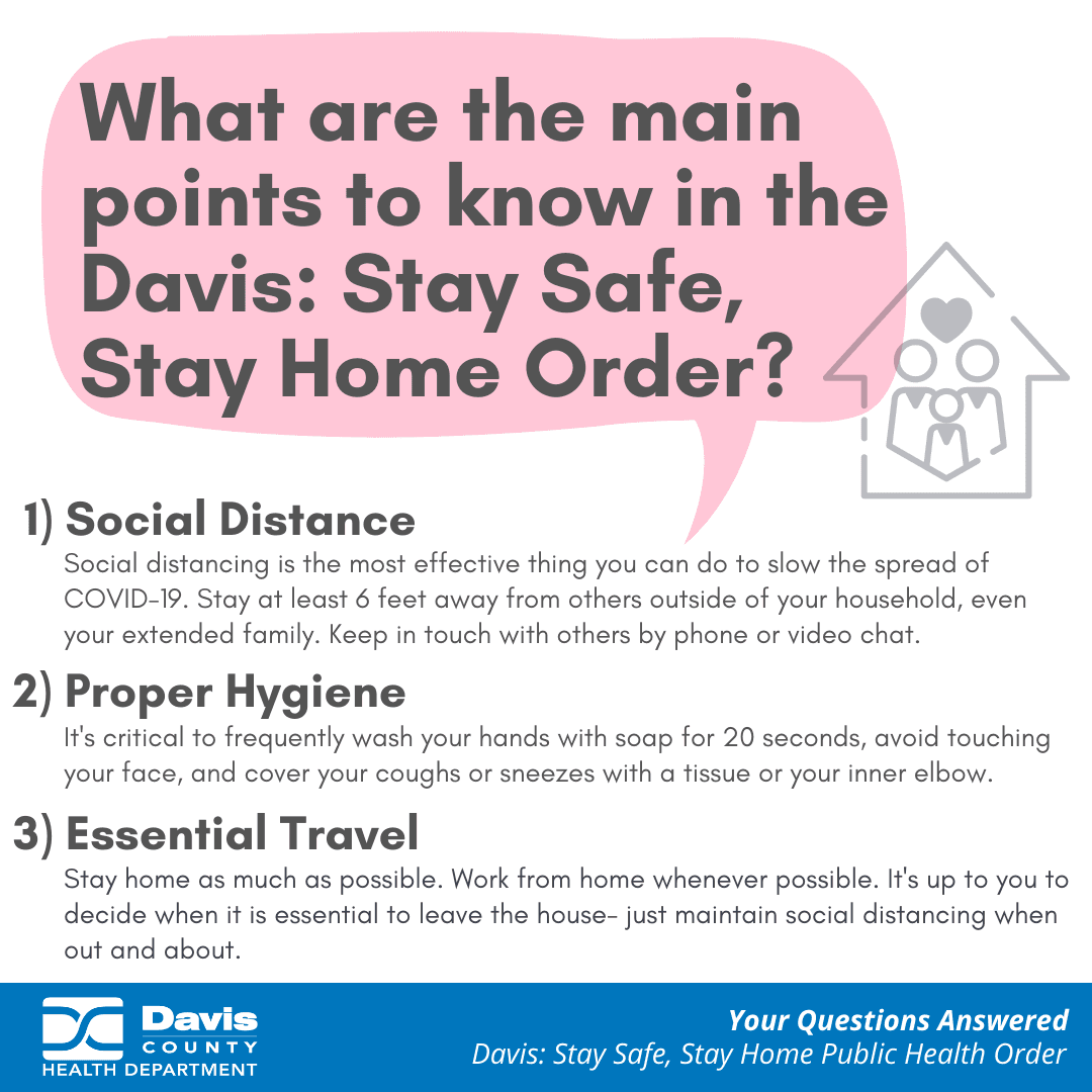 3 what are the main points to know stay safe stay home order