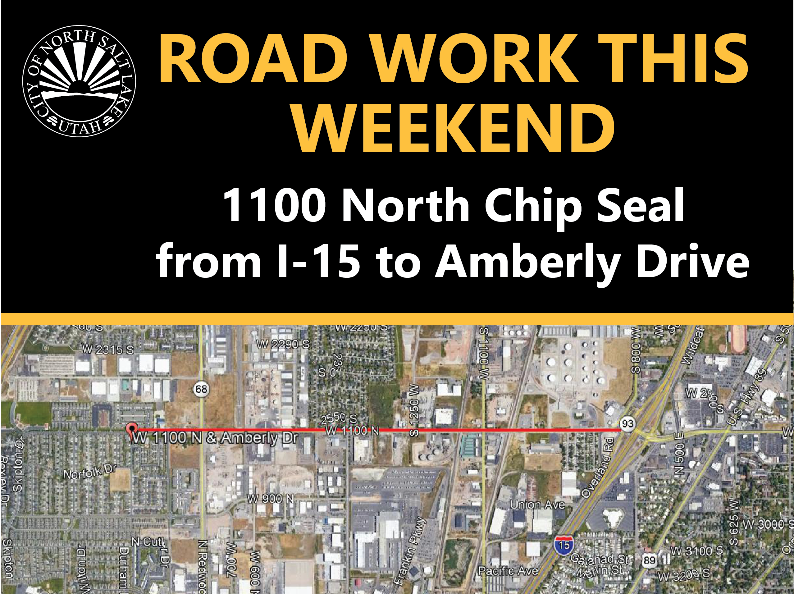 Road Work 1100 N Chip Seal 8-6-20