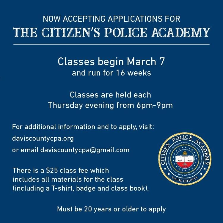 Citizens Police Academy 2019