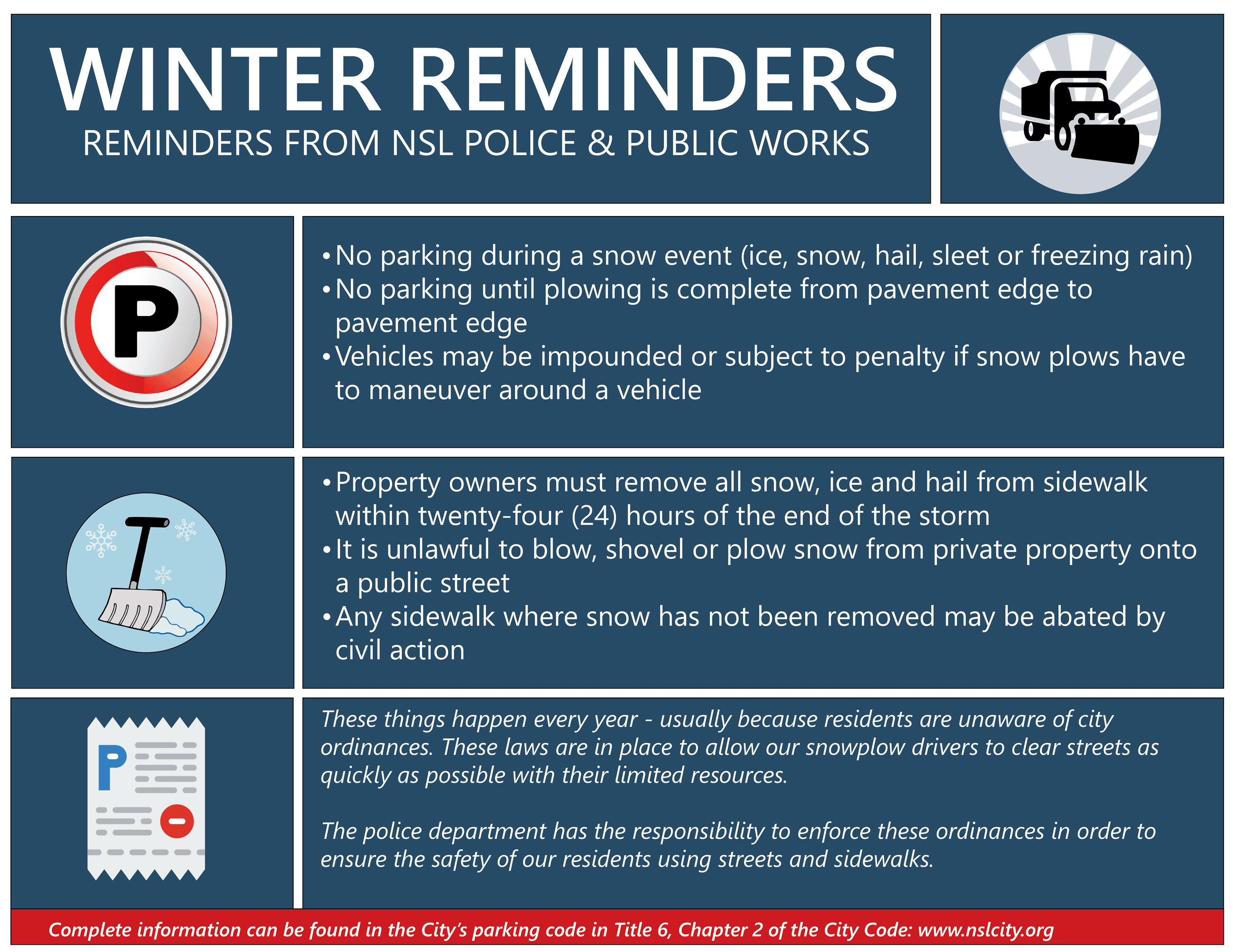 2020 Winter reminders for newsletter