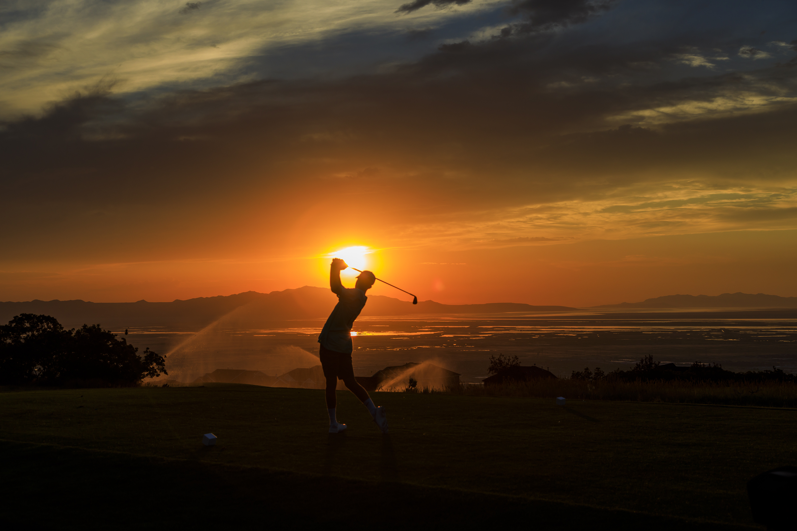 Eaglewood Golf Course-North Salt Lake Utah-sunset