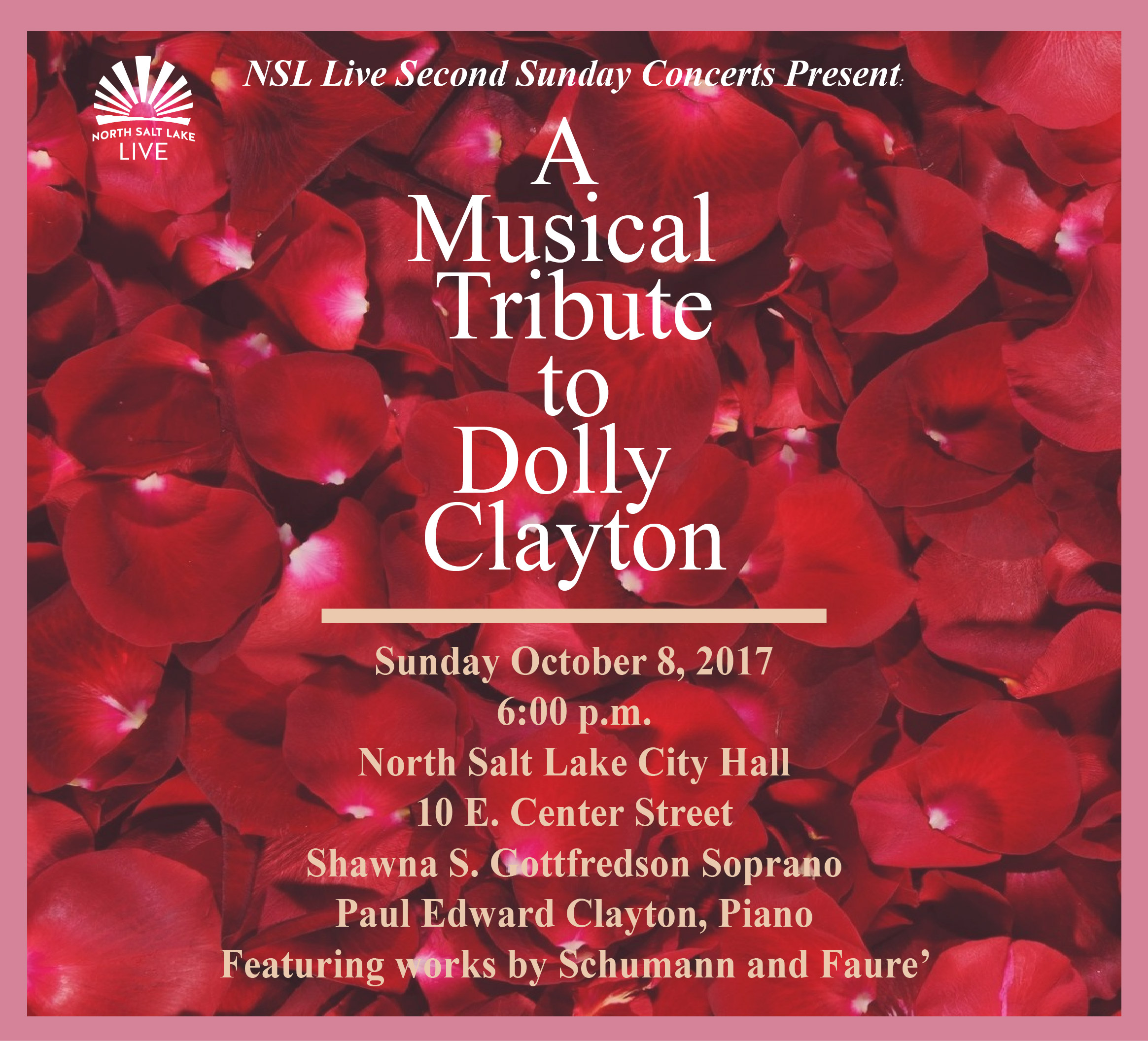 North salt lake ut official website 2017 second sunday concert october rose petalsg kristyandbryce Image collections